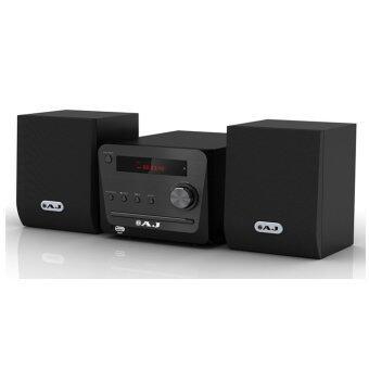AJ เครื่องเล่นดีวีดี ไมโครคอมโปร MD-2002 FM USB (Black)