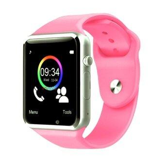 เช็คราคา Maker นาฬิกาโทรศัพท์ Bluetooth Smart Watch รุ่น A1 Phone watch (Pink) ข้อมูล