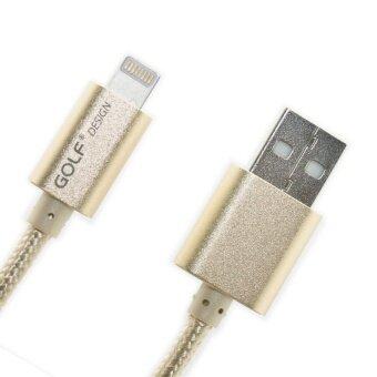 Golf สายชาร์จมือถือ ที่ชาร์จแบตโทรศัพท์Polymer USB Cable & Data For iPhone 6/5S/5C/5สายชาร์จไอโฟน1เมตร(สีทอง)