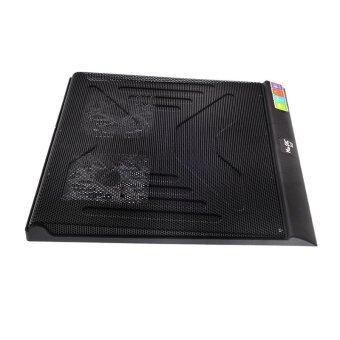 แท่นรองโน้ตบุค Cooler Pad N-3C (2Fan) Black 'Magic Tech'