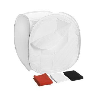 Mastersat สตูดิโอถ่ายภาพ ขนาด 75cm x 75cm แบบพกพา Portable Mini Studio (สีขาว)