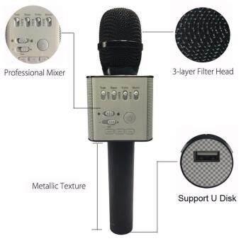 ไมค์ไมโครโฟนแบบพกพา MicGeek Q9 ไมโครโฟนแบบไร้สายพร้อมไมโครโฟนแบบใช้มือถือ KTV Singing Function