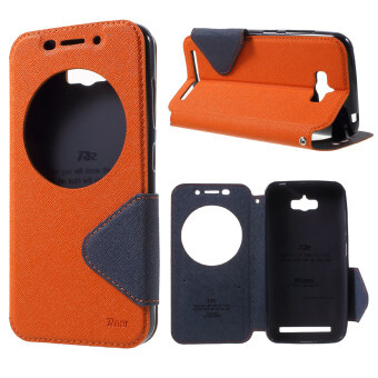 Harga ROAR KOREA Diary View Window Leather Case for Asus Zenfone Max ZC550KL (Orange) - intl