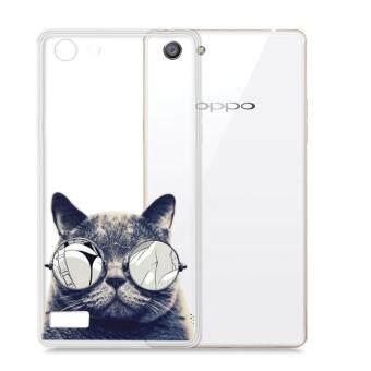 AFTERSHOCK TPU เคส OPPO A33 เคสโทรศัพท์พิมพ์ลาย Black Cat เนื้อบาง 0.33 mm