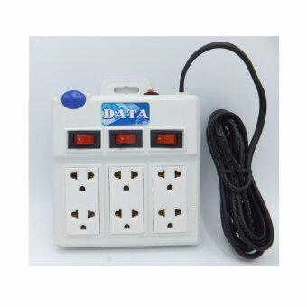 DATA by Mastersat รางปลั๊กไฟ 6 ช่อง มีปุ่มเปิด ปิด 3 ช่อง กันไฟกระชาก มี ม.อ.ก. ยาว 5 หลา (4.5 เมตร) รุ่น WL625