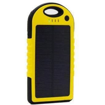 แบตสำรอง 2ระบบ รุ่นโซล่าเซลล์และไฟฟ้า กันน้ำได้ เพิ่มหลอดไฟLED เพื่อความสวา่งยามฉุกเฉิน สีเหลือง(สีเหลืองอ่อน 30000mah)