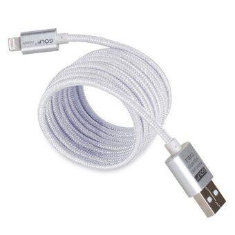Golf สายชาร์จ Lightning แบบถัก Metal Quick Charge & Data Cable สำหรับ iPhone&iPad (สีเงิน) (image 1)