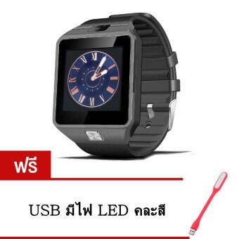 Smart Watch Z นาฬิกาโทรศัพท์ Smart Watch รุ่น A9 Phone Watch (Black)แถมฟรี USB มีไฟ LED(คละสี)