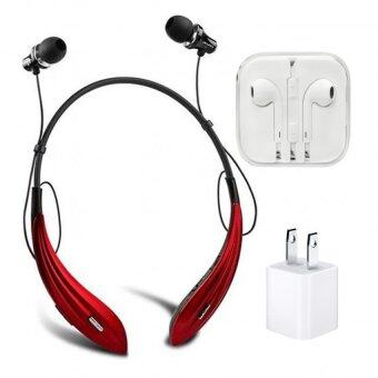 AWEI Wireless Sport Stereo Headset High-End A810BL (แดง)+ หูฟังเกรดA+AdapterUSB