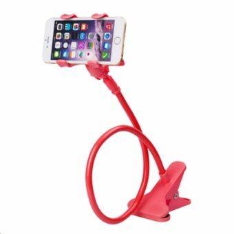 Phone Holder ขาจับมือถือ ที่หนีบสมาร์โฟน แท่นวางไอโฟน แบบหนีบ แดง