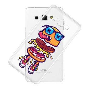 AFTERSHOCK TPU Case Samsung Galaxy J7 2015 (เคสใสพิมพ์ลาย Hamburger) / Thin 0.33 mm