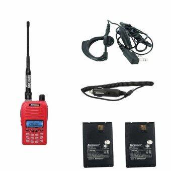Spender วิทยุสื่อสาร อุปกรณ์ครบชุด Hero X5 +ที่ชาร์จไฟในรถ +ไมค์หูฟัง +แบตเตอรี่แท้ 2 ก้อน