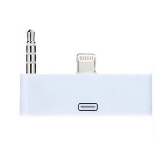 Sanwood 30pin เพื่อ 8pin ท่าเรือ Lightning อะแดปเตอร์ชาร์จเสียงสำหรับ iPhone 6 5 5S 5C iPad ขาว