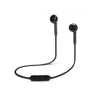 ไร้สายบลูทูธหูฟังบลูทูธเก่งกีฬา V4.1 หูฟังสเตริโอเพลงนิ้วหูที่มีไมโครโฟน Headfree สำหรับโทรศัพท์สีดำ