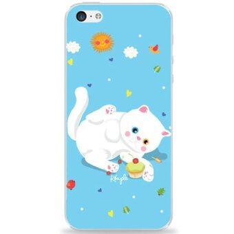 koupleshop เคส สำหรับ iPhone5/5s ลายแมวเหมียวขาวมณี