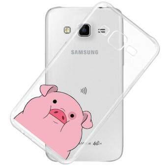 AFTERSHOCK TPU Case Samsung Galaxy J5 2015 (เคสใสพิมพ์ลาย Pink Pig) / Thin 0.33 mm