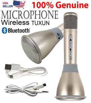 YINGYING TUXUN K068 ไมโครโฟนคาราโอเกะ+ลำโพงสเตอริโอในตัว บลูทูธไร้สาย รุ่นพกพาสะดวก Mobile Phone Karaoke Condenser Wireless Bluetooth Microphone - (Gold)
