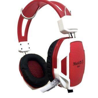 Music D.J. หูฟัง รุ่น M6 (สีแดง)