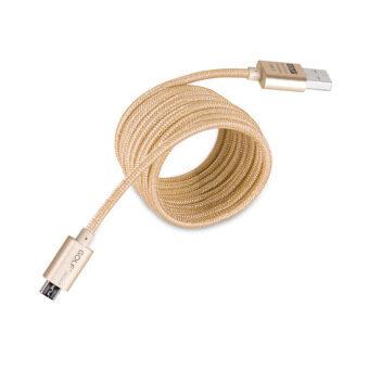 Golf 3M Metal Quick Charge&Data Cable สายชาร์จ Micro USB สำหรับ Samsung/Android สายถักยาว 3เมตร(สีทอง)