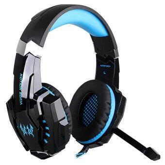 KOTION EACH G9000 3.5มมผ่านชุดหูฟังสเตอริโอสั่นเกมเกมหูโทรศัพท์ไฟ led สำหรับโน้ตบุ๊คโทรศัพท์มือถือสำหรับ PS4 (สีน้ำเงิน)