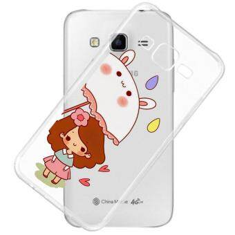 AFTERSHOCK TPU Case Samsung Galaxy J7 2015 (เคสใสพิมพ์ลาย umbrella) / Thin 0.33 mm