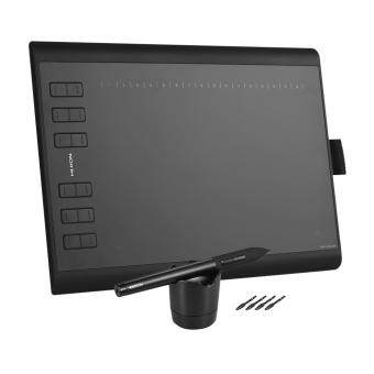 HUION 1060PLUS Portable Drawing Graphics Tablet Pad 10 * 6.25 Active Area with 8G Memory Card Rechargeable Digital Pen for Windows Mac PC Black - intl ...