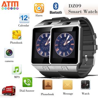 ATM Smart Watch Phone รุ่น DZ09 แพ็คคู่ 2 เรือน กล้องนาฬิกาบูลทูธ ใส่ซิมได้ Bluetooth Smart Watch SIM Card Camera (สีดำ)