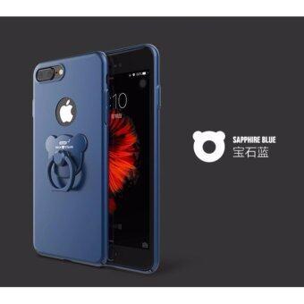 D8 เคส PC แหวนหมี สีกรม สำหรับ iPhone 6 Plus / iPhone 6s Plus