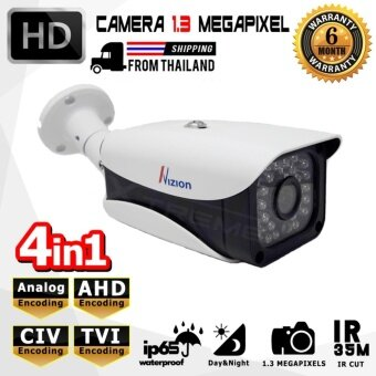 XTREME กล้องวงจรปิด CCTV Bullet IR-Camera 1.3 ล้านพิเซล HD 720P Analog / AHD / TVI / CVI คมชัดทั้งกลางวันและกลางคืน ด้วยระบบ Smart IR LED / IR CUT กันน้ำได้ IP66 (สีขาว)
