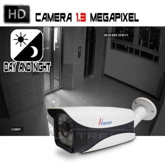 XTREME กล้องวงจรปิด CCTV Bullet IR-Camera 1.3 ล้านพิเซล HD 720P Analog / AHD / TVI / CVI คมชัดทั้งกลางวันและกลางคืน ด้วยระบบ Smart IR LED / IR CUT กันน้ำได้ IP66 (สีขาว) (image 2)