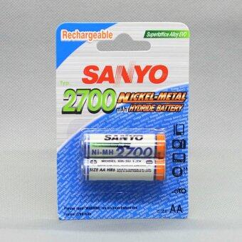 SANYO Rechargeable Battery AA รุ่น HR-4U-2B-2700 2 ก้อน/แพ็ค (White )