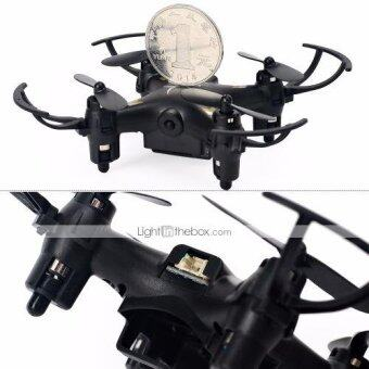 DRONE TY933 โดรนจิ๋วติดกล้อง 2 ล้านพิกเซล บินรีโมทบังคับขนาดเล็กที่สุดมีระบบFPV บินผาดโผนตีลังกาได้ REMOTE 2.4G 4CH 6-Axis Gyros RC + Remote Control Aircraft Roll 360 Helicopters + Auto Hover+LED LIGHT