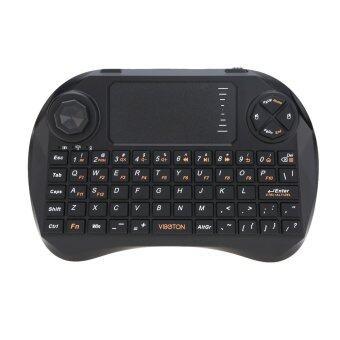 VIBOTON มินิแบบมือถือ 2, 4G คิวเวอร์ตี้คีย์บอร์ดเมาส์ไร้สายกับจอยรีโมทควบคุมทัชแพดสำหรับ Android TV Box HTPC คอมพิวเตอร์โน้ตบุ๊ค Xbox360 PS3