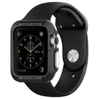 Case For AppleWatch 42mm ThinFit ยางTPUกันกระแทก (Black)