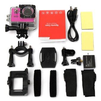 Harga SJ4000 720P Mini DV Video Waterproof Sports Action Camera Camcorder DVR Cam Pink - Intl