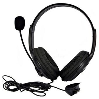 โอไม่มีชุดหูฟังขนาดใหญ่ระบุหูโทรศัพท์ พร้อมกับไมโครโฟนสำหรับ XBOX 360 Xbox360 Slim ใหม่ (สีดำ)