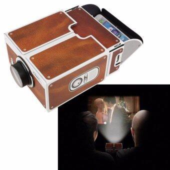 Smartphone Projector 2.0 สมาร์ทโฟนโปรเจคเตอร์ diy กระดาษแข็งโทรศัพท์มือถือโปรเจ็กเตอร์ภาพยนตร์แบบพกพา
