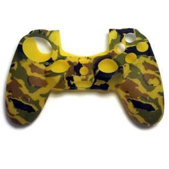 ซิลิโคน PS4 Camouflage Yellow Silicone Rubber Skin light Controller for PlayStation 4 Soft Protective