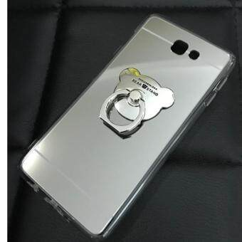 Case Samsung Galaxy J7 Prime เคสกระจกเงา แหวนตั้งได้ ขอบนิ่ม (Case TPU) สีเงิน