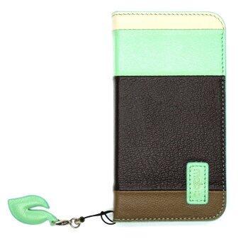 Cool case เคสไอโฟน MobC iPhone SE/5/5s Leaf Book Case (Black-Blue)