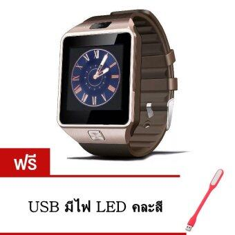 Smart Watch Z นาฬิกาโทรศัพท์ Smart Watch รุ่น A9 Phone Watch (Gold) แถมฟรี USB มีไฟ LED(คละสี)