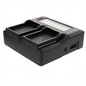 DUAL CHARGER แท่นชาร์จแบตกล้องแบบคู่ ชาร์จทีละ2ก้อน มีจอ LCD แสดงสถานะแบต รุ่น NP-W126 LCD Dual Charger for Fujifilm FinePix HS30EXR HS33EXR HS50EXR X-Pro1 X-E1