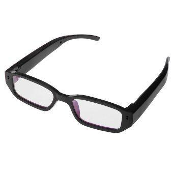 จท 1080P SPY แว่นตาแว่นตากล้อง Dv ที่ซ่อนเครื่องบันทึกวิดีโอกล้องถ่ายวิดีโอ DVR สีดำ