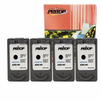 Canon Pixma iP1200/iP1600/iP1700/iP1880/iP2580/ MP145/MP150 ใช้ตลับหมึกอิงค์เทียบเท่า รุ่น 40XL หมึกสีดำ 4 ตลับ