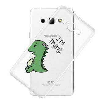 AFTERSHOCK TPU Case Samsung Galaxy J7 2016 (เคสใสพิมพ์ลาย I'm trying) / Thin 0.33 mm
