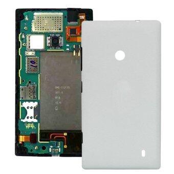 ปกพลาสติกแทนหลังอาคารสำหรับ Nokia Lumia 520 (ขาว)