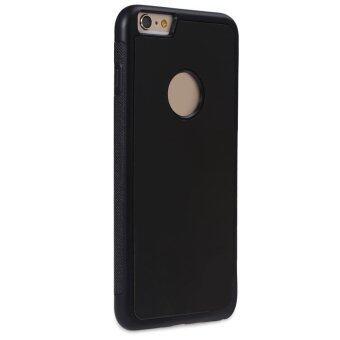 TPU Apertured ต่อต้านแรงโน้มถ่วงการดูดซับเคสโทรศัพท์แบนสำหรับ iPhone 6 Plus 6S Plus/(สีดำ)