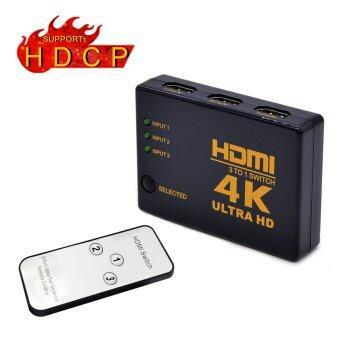 HDMI HDCP สวิตช์รองรับ 1080p valinksâ มินิ 3 สนามบินอัจฉริยะ 4กิโลไบต์ HDMI ตัวสลับกล่องเสียง/วิดีโอตัวสลับเข้ากันได้กับ 4กิโลไบต์ขนาดความละเอียด ชม, สำหรับพีซี XBOX ทีวี (HDMI สวิตช์ด้วยรีโมทอินฟราเรด)®