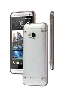 Sanwood สุดโต่งบางเคสหนัก ๆ ผิวใสเจลครอบสำหรับ HTC One M7 สีดำ