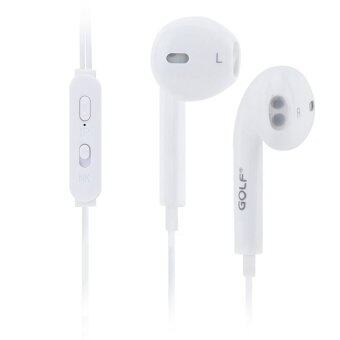 Golf M1 Delightful Stereo Earphones หูฟัง Small talk รุ่น M1 สำหรับ Iphone/Ipad & Android (สีขาว)